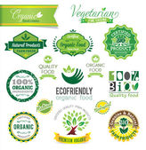 Biological and Natural Farm Fresh vector crests, icons and badge — Vecteur
