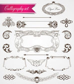 Victorian vintage frames and decorations — Stock Vector