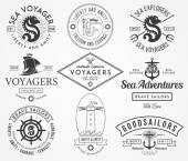 Sea Badges and labels — Stock Vector