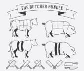The butcher bundle — Stock Vector