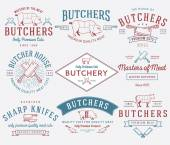 The butcher bundle 2 colored — Stock Vector