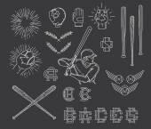 Collection of Baseball symbols — Stock Vector