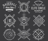 Baseball badges and icons — Stock Vector