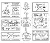 Baseball badges and icons — Stock Vector