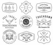 American football badges and crests vol 2 — Stock Vector