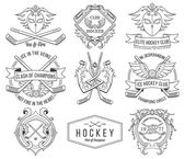 Hockey badges and lables vol.1 — Stock Vector
