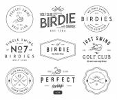 Golf Badges and labels — Stock Vector