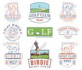 Golf Badges and Labels vol 2 colored — Stock Vector