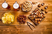 Mix of nuts, snacks, chips — Stock Photo