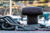Mooring and rope — Stock fotografie