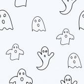Scary ghosts seamless pattern — Stock Vector