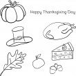 Vector illustration of Thanksgiving icons — Stock Photo #79064826