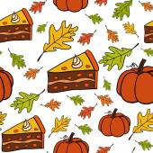 Seamless vector pattern of Thanksgiving — Stock Vector