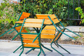 Table and four chairs — Stock Photo