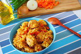 Risotto with chicken — Stock Photo