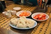 Kimchi With Potato and Thin Noodles — Stock Photo