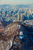 Panorama Cityscape, Seoul, South Korea — Stock Photo