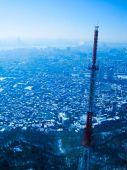 Panorama congelado Cityscape, Seúl, Corea del sur — Foto de Stock