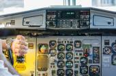 We take off on time — Stock Photo