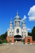 Christian church in the Sambor — Stock Photo