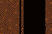 Background with black and orange circles — Stock Photo