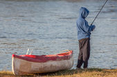 River Fishing — Stock Photo