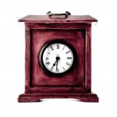 Horloge sur fond blanc — Photo