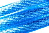 青いケーブルの 3 行 — ストック写真