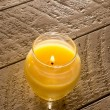 Citronella Candle on Table — Stock Photo #59235549