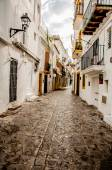 Streets of Old Town Ibiza — Stock Photo
