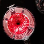 Mixed Berries being Liquidized — Stock Photo