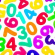 Mixed numbers of different colours. — Stock Photo #70534335