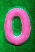 Number Zero in Pink — Stock Photo