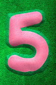 Number Five in Pink — Stock Photo