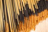 Three different types of spaghetti — Stock Photo