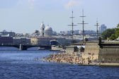 City beach in the center of St.Petersburg, Russia — Stock Photo