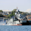 Warship in the Black Sea in the Crimean port of Sevastopol, Ukraine — Stock Photo #56939723