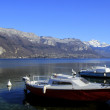 Boats on the lake Annecy, France. Winter — Stock Photo #68232513