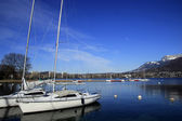 Boats on the lake Annecy, France — Stock Photo