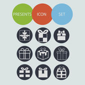 Present icons — Stock Photo