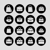 Bag icons — Stock Vector