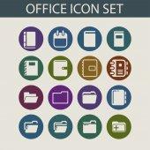 Office icosn — Stock Vector