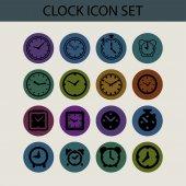 Clock icons — ストックベクタ