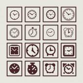 Clock icons — Stock Vector