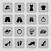 Giysi simgeler — Stok Vektör
