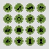 Icônes de vêtements — Vecteur