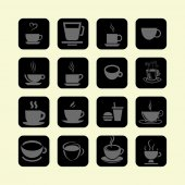 Cofe icons — Stock Vector