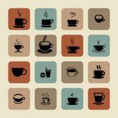 Cofe simgeleri — Stok Vektör