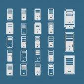 ícones do computador — Vetor de Stock