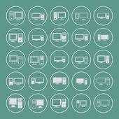Computer pictogrammen — Stockvector